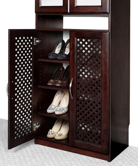 Bamboo vanity cabinets bathroom - Closet Organizers Shoe Rack Solid Wood Closets Inc