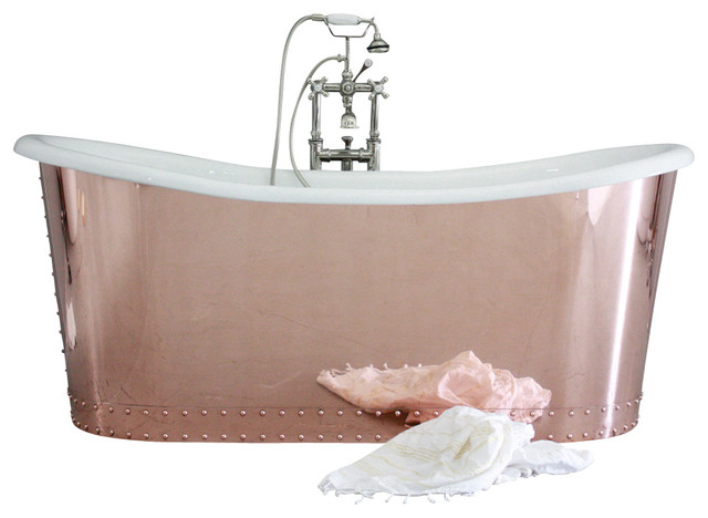 """The Woburn 73"""" Cast Iron French Bateau Tub Package from Penhaglion traditional-bathtubs"""