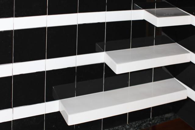 Modern Bathroom Shower Shelf Ideas Modern Tile Dc
