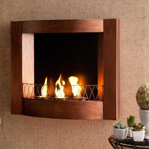 addison copper wall mount fireplace contemporary