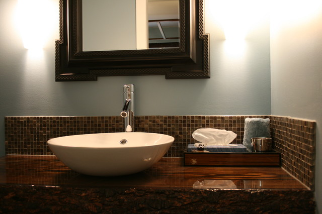 Vanity Wood Top : Custom wood top vanity contemporary bathroom vanities