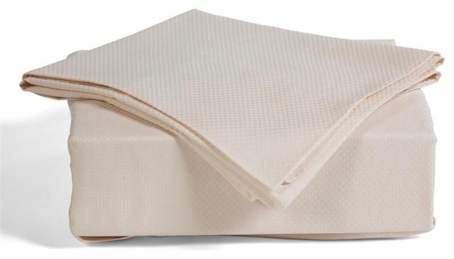 Ellen Tracy 300TC Mini Check Sheets NATURAL sheets