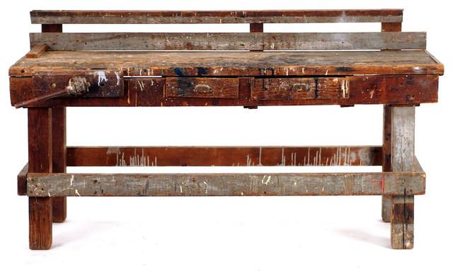 handmade vintage work bench farmhouse furniture los
