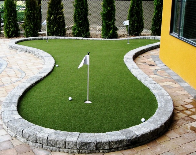 backyard and deck putting greens modern outdoor products