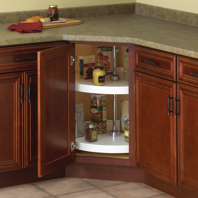 """Real Solutions 20"""" Full Circle Polymer Lazy Susan (2 Shelf ..."""