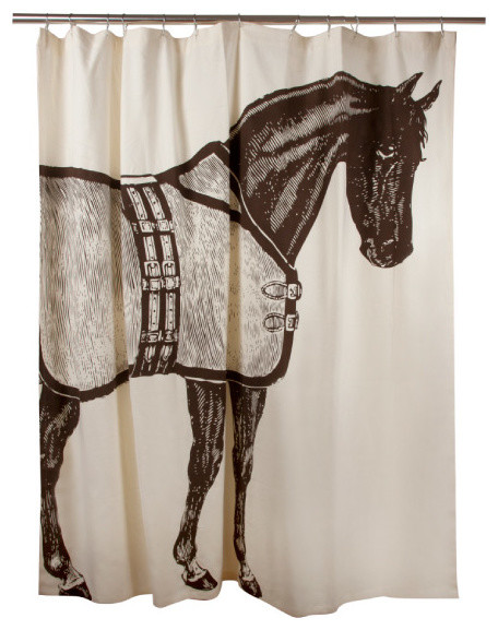 Luxury Shower Curtain, Horse - Contemporary - Shower Curtains - by ...