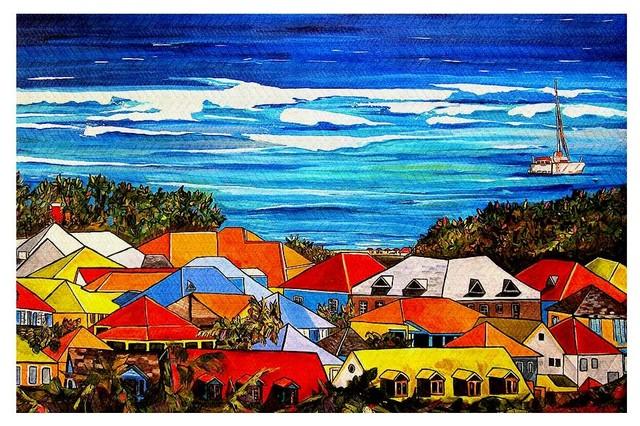 Area Rug by Patti Schermerhorn - Colors of St. Martin contemporary-area-rugs