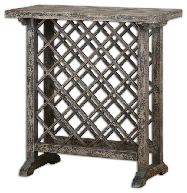 Annileise Wooden Wine Table traditional-bar-tables