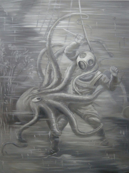 Art - Fighting With Octopus