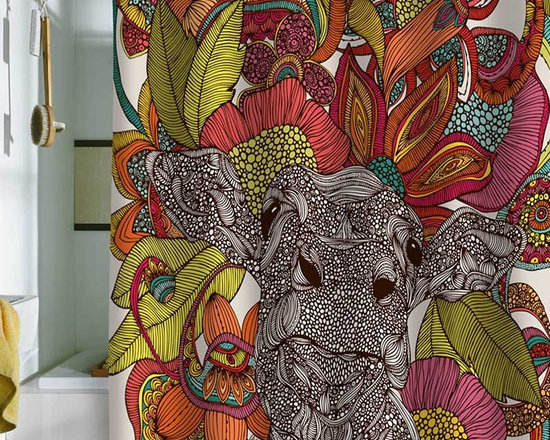 DENY Designs Valentina Ramos Arabella And The Flowers Shower Curtain