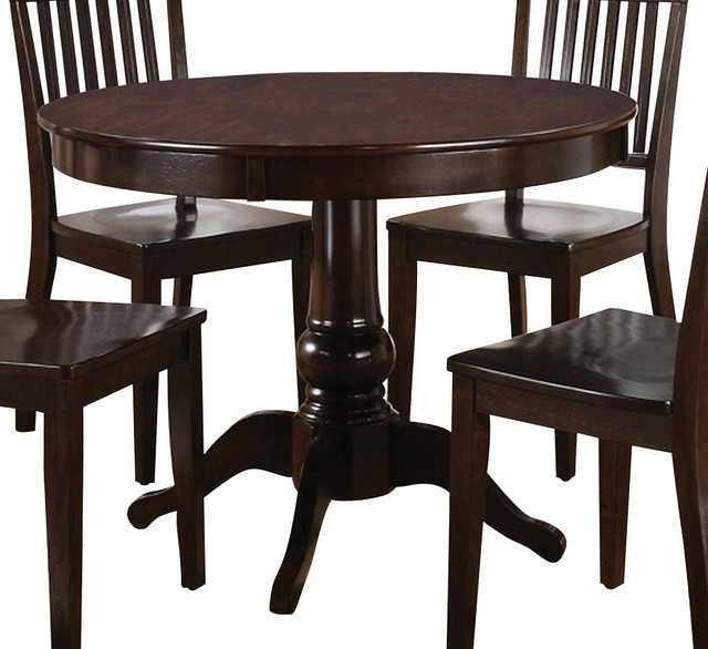 Steve Silver Candice 42 Inch Round Dining Table in Dark  : contemporary dining tables from houzz.com size 640 x 586 jpeg 84kB