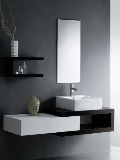 Mizu Bloc 1500 Wall Hung Vanity from Reece contemporary ...