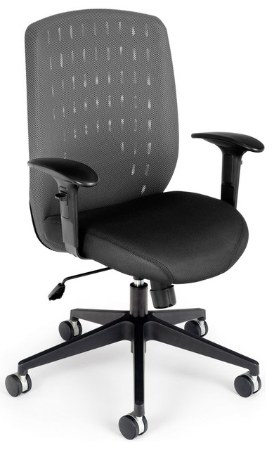 Vision Series Executive Office Task Chair with Charcoal Mesh Cover modern-office-chairs