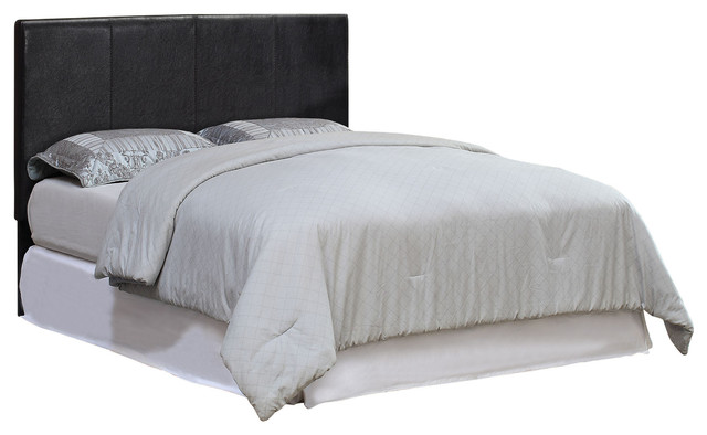 Wall Mountable Padded Leatherette Headboard, Espresso, Full/Queen - Contemporary - Headboards ...