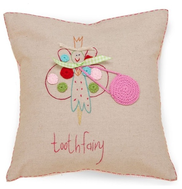 Living Life Tooth Fairy Pillow with Fairy - Contemporary - Kids Bedding - by Jacaranda Living