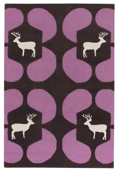 Avalisa Deer Wool Rug modern-flooring