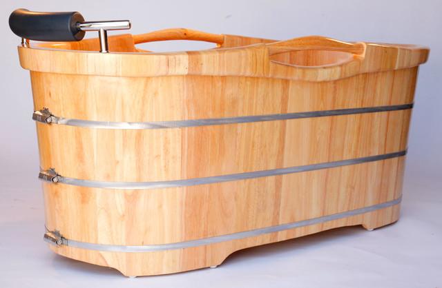 unique freestanding bathtubs stylish wood bathtubs and glass