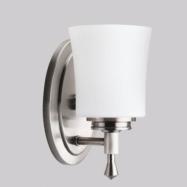 Kichler Lighting - 5359NI - Wharton - One Light Bath Fixture transitional-bathroom-lighting-and-vanity-lighting