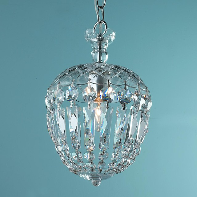 Reproduction Cut Crystal Basket Flush Mount Pendant - Bathroom Vanity Lighting - by Shades of Light