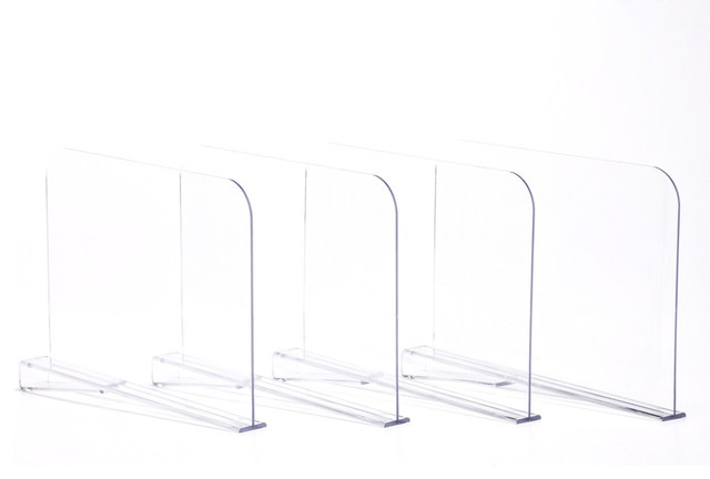 Acrylic Shelf Dividers, Set of 4 contemporary-closet-organizers