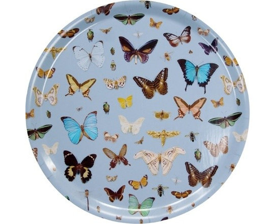 Bugs and Butterflies Round Tray -