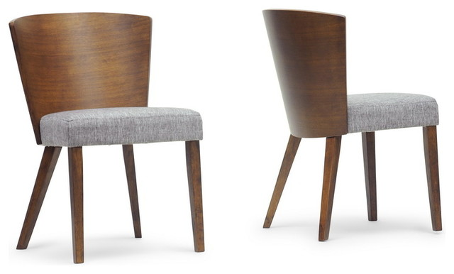 Sparrow Brown Wood Modern Dining Chairs, Set of 2 contemporary-dining-chairs