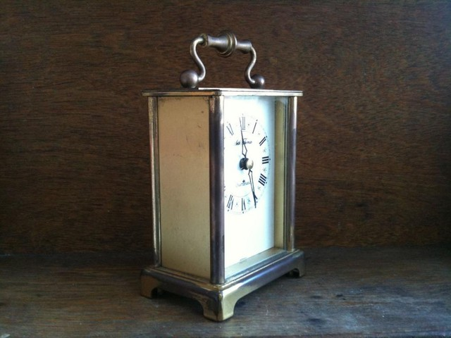 Vintage German Brass Clock traditional-clocks