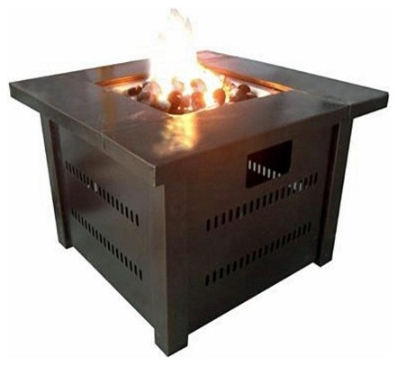 LP Fire Pit with Lid- Antique Bronze modern-fire-pits