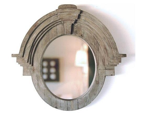 Large Mansard Mirror -
