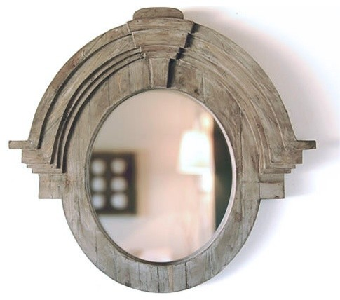Large Mansard Mirror eclectic-wall-mirrors