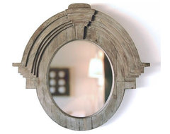 Large Mansard Mirror eclectic mirrors