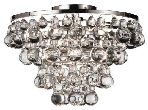 Robert Abbey Bling Flush Mount-Polished Nickel traditional ceiling lighting