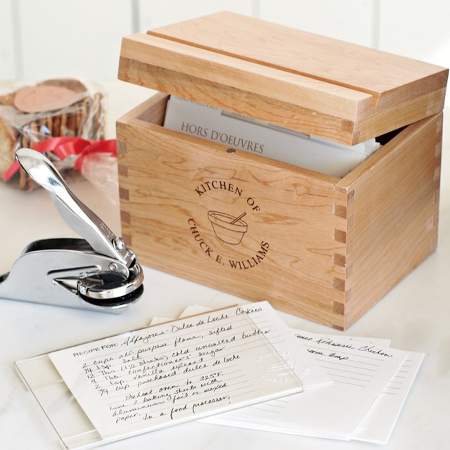 Personalized Recipe Gift Set With Embosser traditional kitchen products