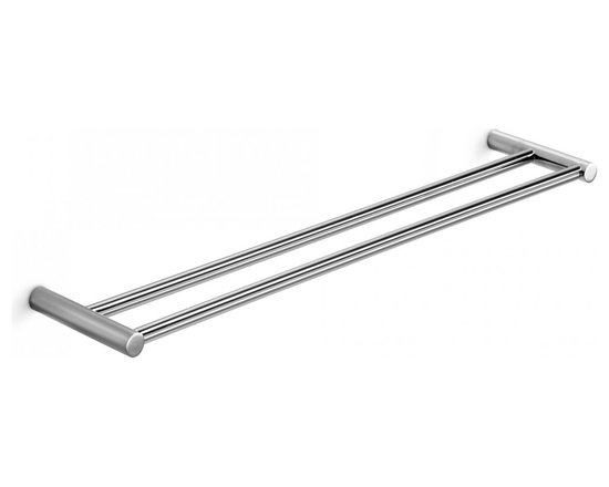 """WS Bath Collections - Picola Double Towel Rail in Polished Chrome 23.6"""" - Features:"""