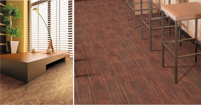 Tiles Teakwood Wood Look Tile Contemporary Wall And Floor Tile