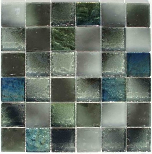 iridescent crystal glass mosaic series tropical-tile