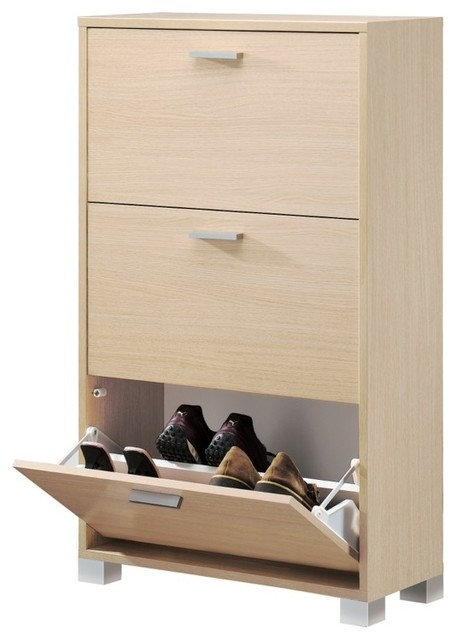 Natural Oak Shoe Rack - Modern - Shoe Storage - other metro - by ...