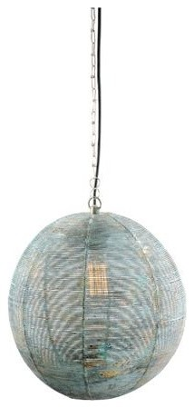 Candelabra Home Old Copper Finished Iron Sphere Pendant Lamp traditional-pendant-lighting