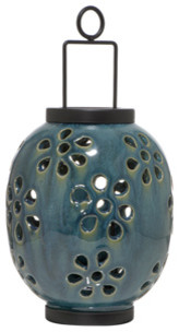 Glazed Hanging Lanterns contemporary-outdoor-hanging-lights