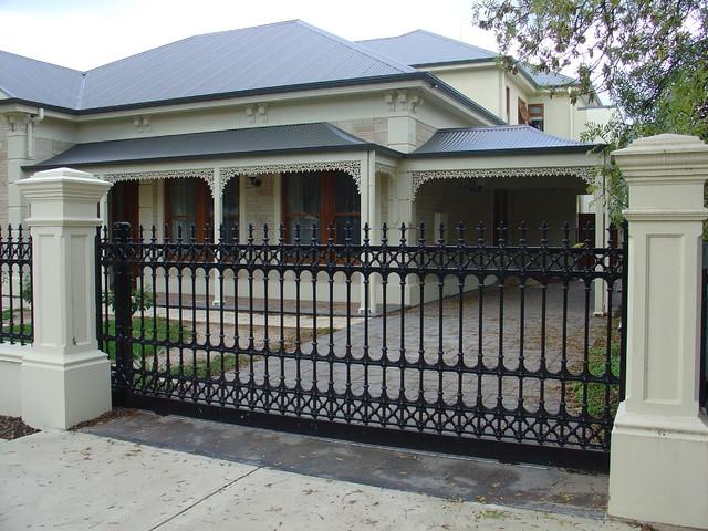 sturt cast aluminium fences gates traditional home fencing and gates - Home Fences Designs