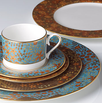 Gilded Tapestry 5-piece Place Setting modern dinnerware