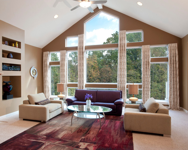 Windows In Living Room contemporary-living-room