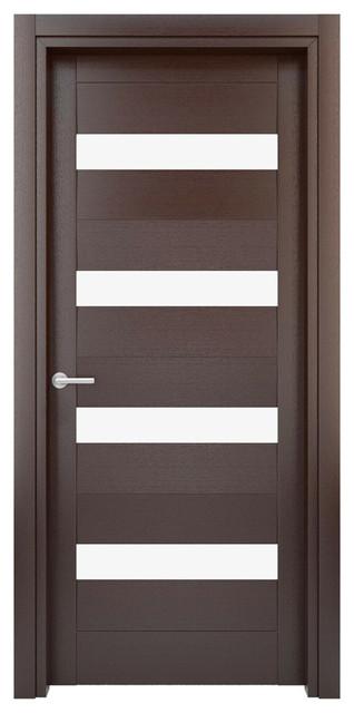 Interior door solid wood construction laminated wenge for Solid flush door