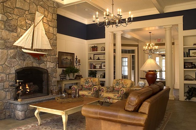 Great room traditional family room by kirsten floyd for Traditional great room designs