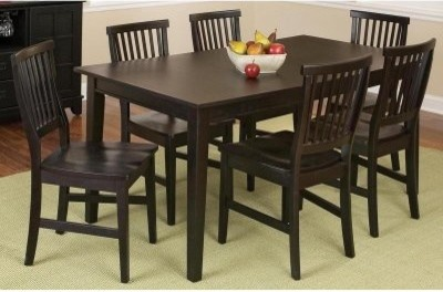 Home Styles Arts and Crafts 7 Piece Dining Set - Ebony modern-dining-tables