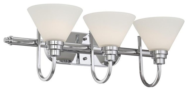 3 Light Bath Fixture modern-bathroom-vanity-lighting