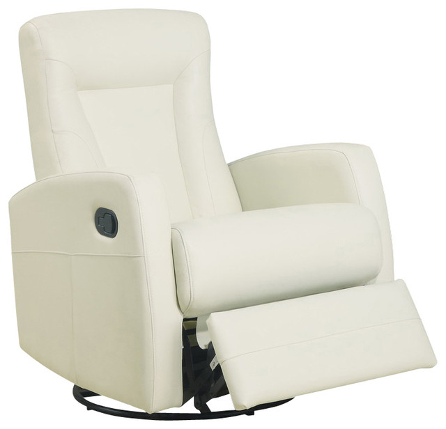 swivel rocker recliner in ivory leather traditional recliner chairs