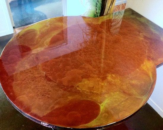 Metallic Glass Finish - Metallic coating for glass/wood/conrete.