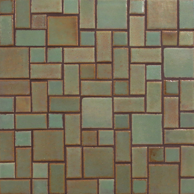 Patina savvy squares craftsman tile other metro by mercury mosaics and tile