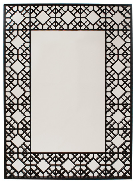 Grenwich Rectangular Framed Wall Mirror contemporary-mirrors